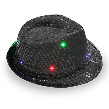 Fedora LED Flashing Sequins Jazz Cap Hip Hop Hat Party Birthday Hats Cap  Wedding Halloween 6296328 2019 –  10.99 ae9617d3088