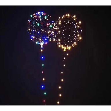 preiswerte Ballons-3M 18Inch Ballons LED-Ballon Neuheit Urlaub Romantik Schein Beleuchtung Neues Design Kinder Erwachsene Jungen Mädchen Spielzeuge Geschenk