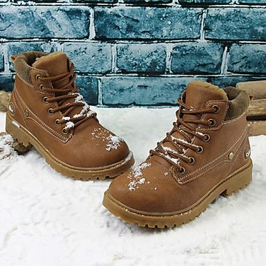 Αγορίστικα Παπούτσια Δερματίνη Χειμώνας Φθινόπωρο Μπότες Μάχης Μπότες  Χιονιού Μπότες Μποτίνια Κορδόνια για ΕΞΩΤΕΡΙΚΟΥ ΧΩΡΟΥ Μαύρο Κίτρινο 6326483  2019 – ... 3703e187e67