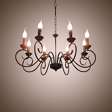 8-luz Lustres Luz Ambiente - Estilo Vela, 110-120V / 220-240V Lâmpada Não Incluída / 10-15㎡ / E12 / E14