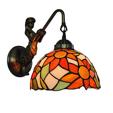 διάμετρος 20cm ρετρό γοργόνα γοργόνα Tiffany τοίχο φώτα γυάλινη σκιά σαλόνι κρεβατοκάμαρα φωτιστικό
