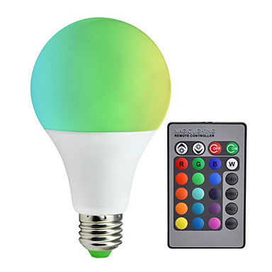 1pc 10 W 800 lm E26 / E27 LED Έξυπνες Λάμπες A80 6 LED χάντρες SMD 5050 Με ροοστάτη / Τηλεχειριζόμενο / Διακοσμητικό RGBW 85-265 V / RoHs