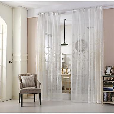 miljövänliga gardiner draperier två paneler / broderi / sovrum