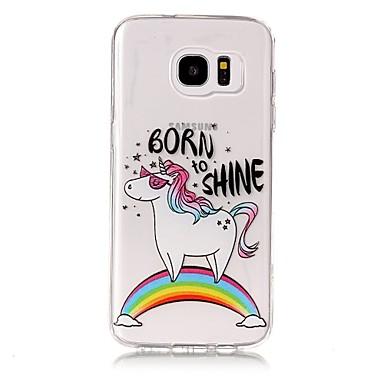 25758210c0a Funda Para Samsung Galaxy S8 Plus S8 Transparente Diseños Cubierta Trasera  Unicornio Suave TPU para S8 S8 Plus S7 edge S7 S6 edge plus S6 6286606 2019  – ...