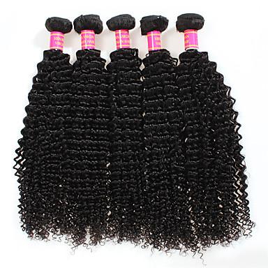 4 πακέτα Περουβιανή Kinky Curly Χωρίς επεξεργασία Ανθρώπινη Τρίχα Υφάνσεις ανθρώπινα μαλλιών 8-28 inch Υφάνσεις ανθρώπινα μαλλιών Επεκτάσεις ανθρώπινα μαλλιών / 8A / Kinky Σγουρό