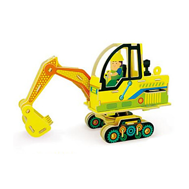RUOTAI Παζλ 3D Οχήματα Εκσκαφείς Ξύλινος 1 pcs Εκσκαφέας Παιδικά Ενηλίκων Παιχνίδια Δώρο