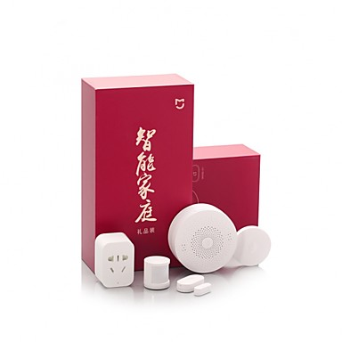 [?202.98] Xiaomi Mijia 5 in 1 Smart Home Security Kit Multifunction Gateway/Smart Socket/Wireless Switch/Human Body Sensor/Window and Door Sensor