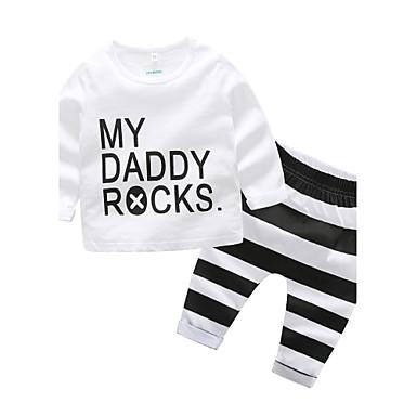 povoljno Odjeća za bebe-Dijete Dječaci Outfits / Na prugice Dnevno Dungi Pamuk Komplet odjeće Obala