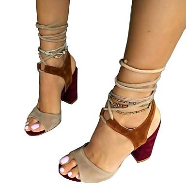 40d9e930328 Γυναικείο Παπούτσια Δέρμα Nubuck Άνοιξη Καλοκαίρι Ανατομικό Πρωτότυπο  Σανδάλια Ανοικτή μύτη Κορδόνια Για Φόρεμα Πάρτι & Βραδινή Έξοδος 6328063  2019 – $34.99