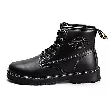 Hombre Zapatos PU Otoño / Invierno Confort Botas Negro / Amarillo / Marrón Claro W0hQp2ZY