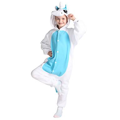 60c26f50f578 Kid s Kigurumi Pajamas Unicorn Pony Onesie Pajamas Polar Fleece Blue  Cosplay For Boys and Girls Animal Sleepwear Cartoon Festival   Holiday  Costumes 5472507 ...