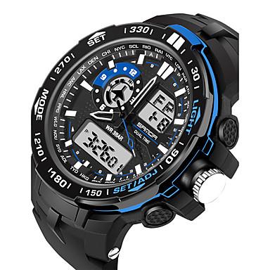 levne Pánské-Pánské Dámské Sportovní hodinky Vojenské hodinky Inteligentní hodinky Digitální Silikon Černá 30 m Voděodolné Alarm Kalendář Analog - Digitál Přívěšky Luxus Na běžné nošení Skládaný Módní - Čern