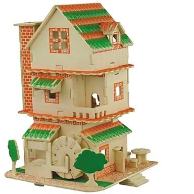 voordelige 3D-puzzels-3D-puzzels Legpuzzel Houten modellen Modelbouwsets Huizen Mode Kasteel Chinese architectuur Klassiek Mode Nieuw Design Kinderen DHZ Hot