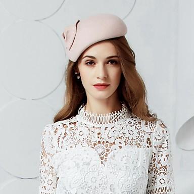 Μαλλί Kentucky Derby Hat / Καπέλα / Καλύμματα Κεφαλής με Φλοράλ 1pc Γάμου / Ειδική Περίσταση / Πάρτι / Βράδυ Headpiece