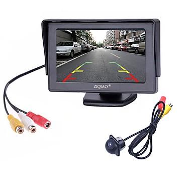 ziqiao® 2 in1 tft 4,3 ιντσών auto tft lcd backview πάρκινγκ έγχρωμη οθόνη οδήγησε νυχτερινή όραση ccd πίσω κάμερα με οθόνες αυτοκινήτου