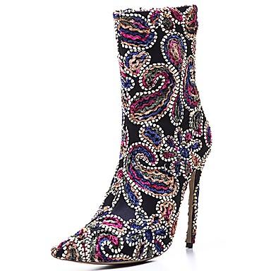 c123bab950b [$41.99] Γυναικεία Δερματίνη Χειμώνας Μοντέρνες μπότες Μπότες Τακούνι  Στιλέτο ...
