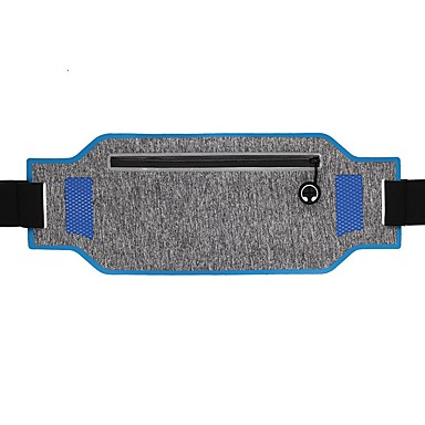 Ζώνη τρεξίματος Τσαντάκια Μέσης Αντανακλαστικό Αδιάβροχη Με προστασία από την σκόνη Ελαστικό Εξωτερική Πεζοπορία Τρέξιμο Fitness Lycra Spandex Μπλε Ροζ Γκρίζο / iPhone X / iPhone XR / iPhone XS
