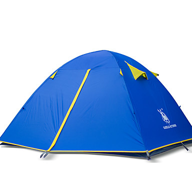 HUILINGYANG 4 άτομα Σκηνή Εξωτερική Ορειβασία Διπλής στρώσης Camping Σκηνή 2000-3000 mm για Κατασκήνωση & Πεζοπορία Παραλία Κατασκήνωση / Πεζοπορία / Εξερεύνηση Σπηλαίων 200*180*130 cm