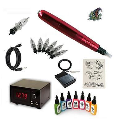 Μηχανή τατουάζ Βασικό Σετ - 1 pcs Μηχανήματα τατουάζ με 7 x 15 ml μελάνια τατουάζ, Επαγγελματικό 15 W 1 x περιστροφικό μηχάνημα τατουάζ