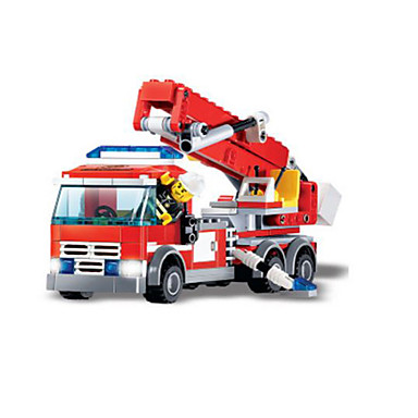 Τουβλάκια 244 pcs Οχήματα Πυροσβεστικό όχημα Αγορίστικα Δώρο