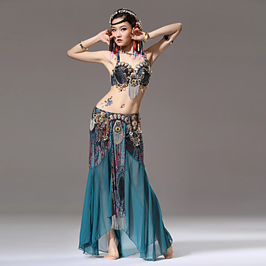 be4b1bfbe Belly Dance Outfits Women s Performance Cotton Polyester Chiffon Ice ...