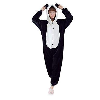 db203d9e16 Adulto Pijamas Kigurumi Oso Panda Pijamas de una pieza Lana Polar Negro    Blanco Cosplay por Hombre y mujer Ropa de Noche de los Animales Dibujos  animados ...