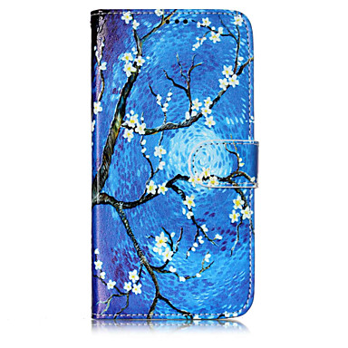 tok Για Motorola Moto G5 Plus / Moto G5 / Moto C plus Πορτοφόλι / Θήκη καρτών / με βάση στήριξης Πλήρης Θήκη Δέντρο / Λουλούδι Σκληρή PU δέρμα