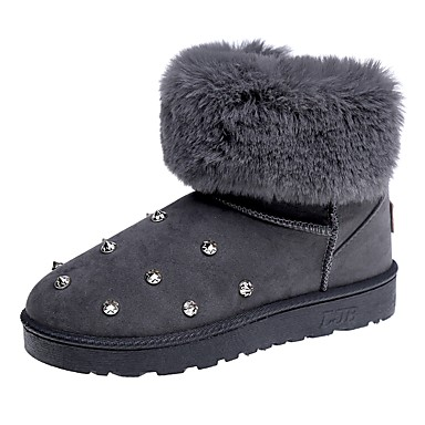 Chaussures Bottes Polyuréthane De Talon Hiver Femme Neige tdqwxH5I
