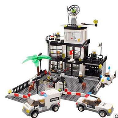 Τουβλάκια Κατασκευασμένα Παιχνίδια Εκπαιδευτικό παιχνίδι 631 pcs Πύργος Αστυνομία συμβατό Legoing Κλασσικό Αγορίστικα Κοριτσίστικα Παιχνίδια Δώρο