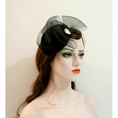 voordelige Hoeden-Edelsteen & Kristal / Tule / Katoenflanel fascinators / hatut / Helm met Kristal / Veer 1 Bruiloft / Feest / Uitgaan / Evenement / Feest Helm
