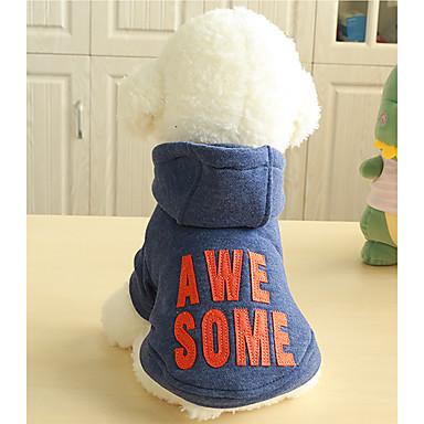 Cachorro Camisola com Capuz Roupas para Cães Lábios Cinzento Azul Plumagem Algodão Ocasiões Especiais Para Primavera & Outono Inverno Homens Mulheres Casual