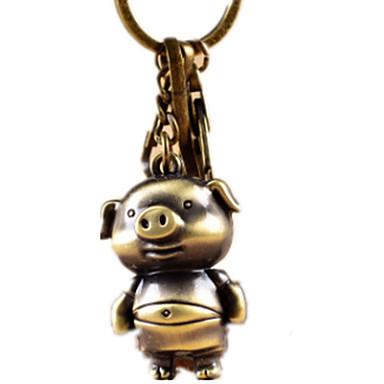 preiswerte Schlüsselanhänger-Schlüsselanhänger Neuheit Schwein Zinklegierung Unisex Spielzeuge Geschenk