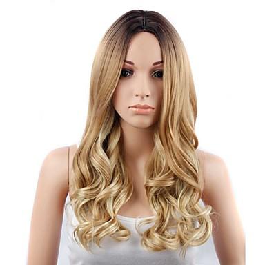 Συνθετικές Περούκες Φυσικό Κυματιστό Φυσικό Κυματιστό Περούκα Ξανθό Μακρύ Φράουλα Ξανθιά  / φράουλα ξανθιά Συνθετικά μαλλιά Γυναικεία Ξανθό