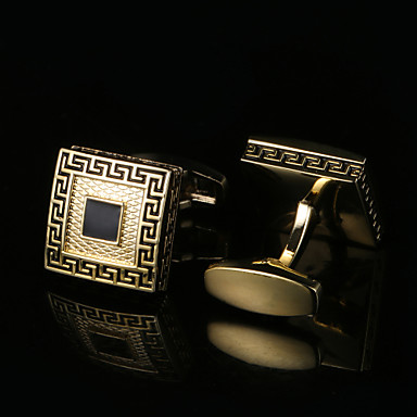 Geometric Shape Χρυσαφί Butoni Μοτίβο Ανδρικά Κοστούμια Κοσμήματα Για