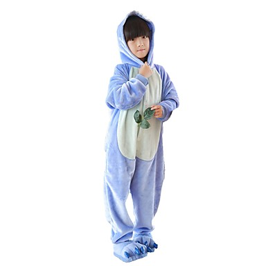 fdbbec7bbfb6 Kid s Kigurumi Pajamas Anime Blue Monster Onesie Pajamas Flannel Fabric  Pink   Blue Cosplay For Boys and Girls Animal Sleepwear Cartoon Festival    Holiday ...