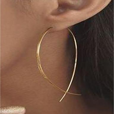 povoljno Modne naušnice-Žene Sitne naušnice Okrugle naušnice dame Personalized Simple Style Pozlaćeni Naušnice Jewelry Zlato / Pink Za Ulica Klub