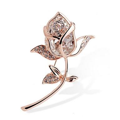 levne Dámské šperky-Dámské Křišťál Syntetický diamant Brože dámy Štras Brož Šperky Zlatá Pro Dar Obřad