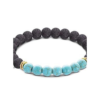 voordelige Herensieraden-Heren Dames Turkoois Kralenarmband Bal Bohémien Acryl Armband sieraden Geel / Lichtblauw Voor Lahja Causaal