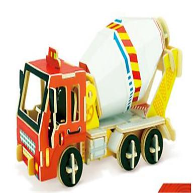 levne 3D puzzle-RUOTAI 3D puzzle Automobily Bagr Dřevěný 1 pcs Stavební stroj Dětské Dospělé Hračky Dárek