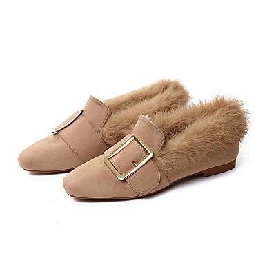 Mujer Zapatos Cuero Cuero de Napa Primavera Otoño Confort Zapatos de taco bajo y Slip-On Tacón Bajo para Casual Negro Verde Ejército VjzbGd