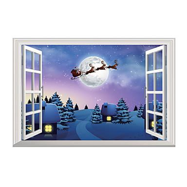 2019年 クリスマス 風景画 3d ウォールステッカー 3d ウォールステッカー 飾りウォールステッカー 3d