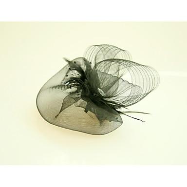 Τούλι / Φτερό / Δίχτυ Γοητευτικά / Καπέλα με Φτερό 1 Γάμου / Ειδική Περίσταση / Εκδήλωση / Πάρτι Headpiece
