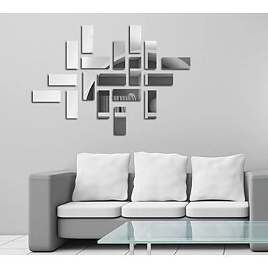 Διακοσμητικά αυτοκόλλητα τοίχου - Αυτοκόλλητα Τοίχου Καθρέφτης Αφηρημένο / Μόδα / Σχήματα Σαλόνι / Τραπεζαρία / Δωμάτειο Μελέτης / Γραφείο