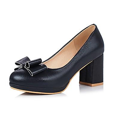 bebb3fa0 Mujer Zapatos Semicuero Primavera Otoño Talón Descubierto Tacones Tacón  Cuadrado Dedo redondo Pajarita Para Casual Vestido Negro Azul 6284963 2019  – $34.99