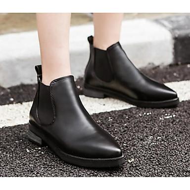 Mujer Zapatos PU microfibra sintético Otoño / Invierno Confort / Botas hasta el Tobillo Botas Tacón Cuadrado Botines / Hasta el Tobillo Prix Le Plus Bas Rabais 0rbRyipK9
