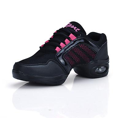 8e46bc61fda Γυναικεία Παπούτσια Χορού Τούλι Αθλητικά Κόψιμο Επίπεδο Τακούνι Παπούτσια  Χορού Χρυσό / Ροζ / Εξάσκηση 6303267 2019 – $22.99