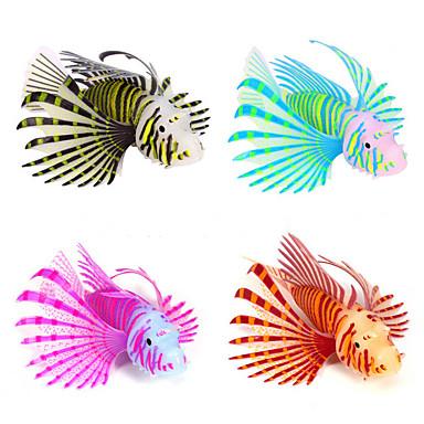 Ενυδρείο ψαριών Διακόσμηση Ενυδρείου Γυάλα για Ψάρια Τεχνητό ψάρι Καφέ Σιλικόνη 11.5*7.5*3 cm