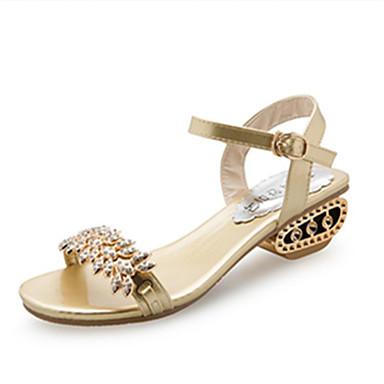 voordelige Damessandalen-Dames Sandalen Open teen  Strass / Imitatieparel / Gesp PU Comfortabel / Gladiator Lente / Zomer Goud / Zwart / Zilver / EU39