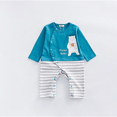 povoljno Odjeća za bebe-Dijete Jedna barva / Životinja 100% pamuk Jednodijelno Plava