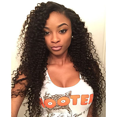Human Hair Lace Front Wig Layered Haircut Baby Hair style Brazilian Hair Curly Wig 130% Density Natural Hairline Black Women 100% Virgin Unprocessed Women's Short Medium Length Long Human